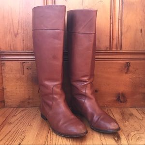 J. Crew Tall Cognac Booker Pull On Riding Boots